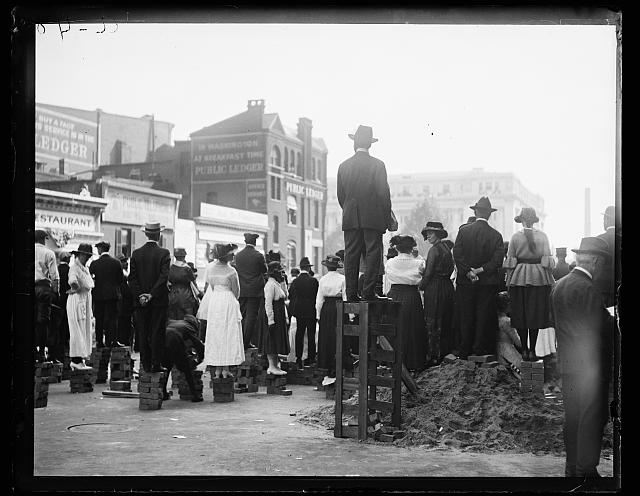 crowd Viewing Parade Washington, DC 1919 Sep 17